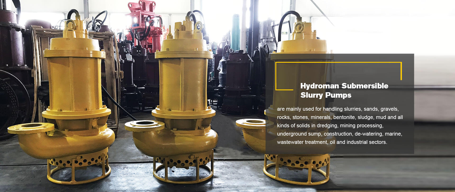 Hydroman Submersible Slurry Pumps