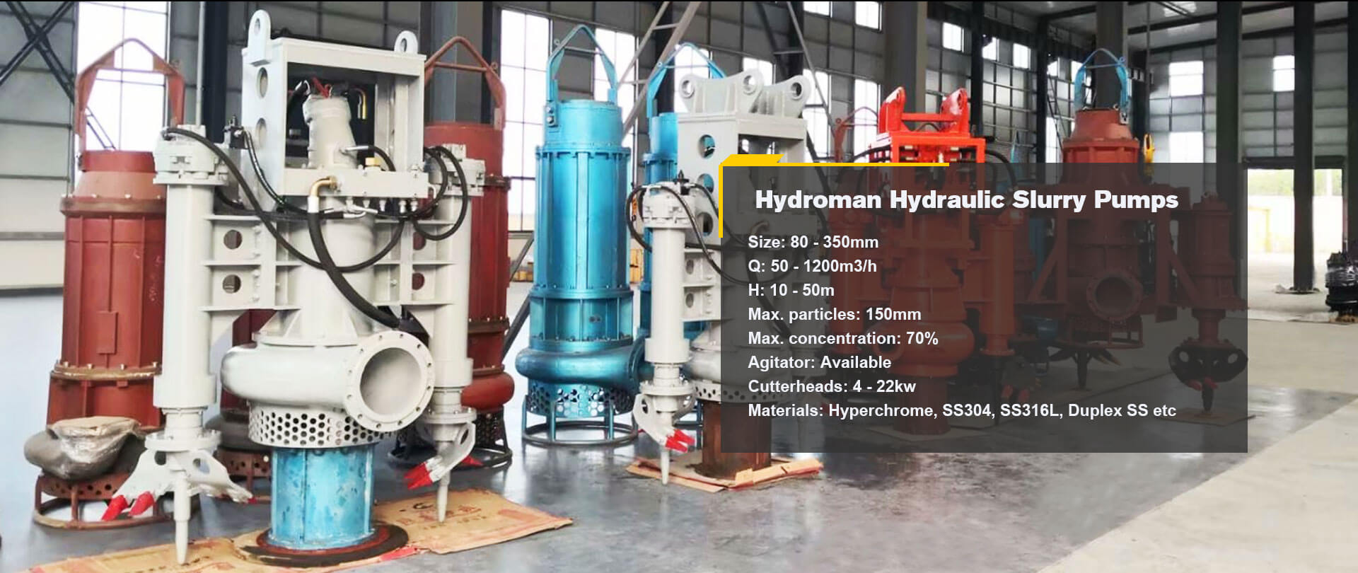 Hydroman Hydraulic Slurry Pumps