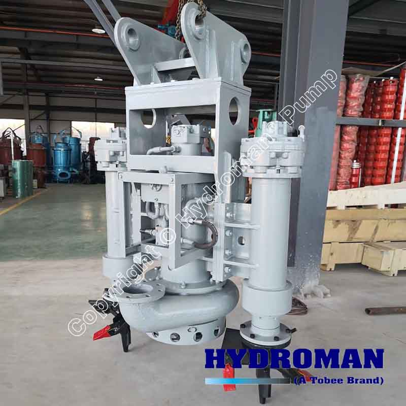 Hydraulic Submersible Slurry Pump with Side Cutters