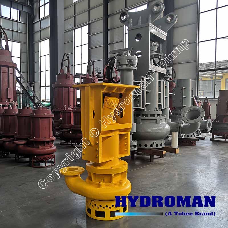 Excavator hydraulic driven dredge pump