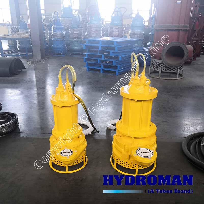 Electric submersible slurry pump with agitators