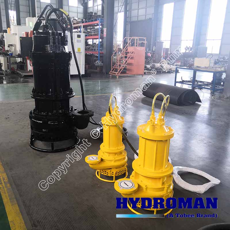submersible pump with agitator