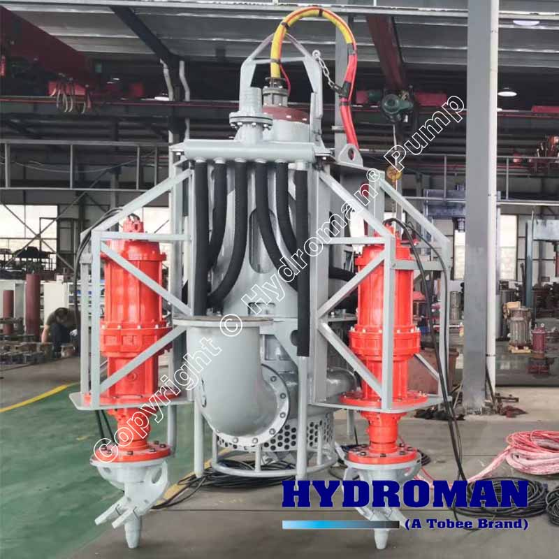 Electric Submersible Slurry Pump with CutterHeads