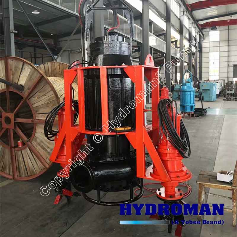 Dragflow Submersible Dredge Pump with CutterHeads