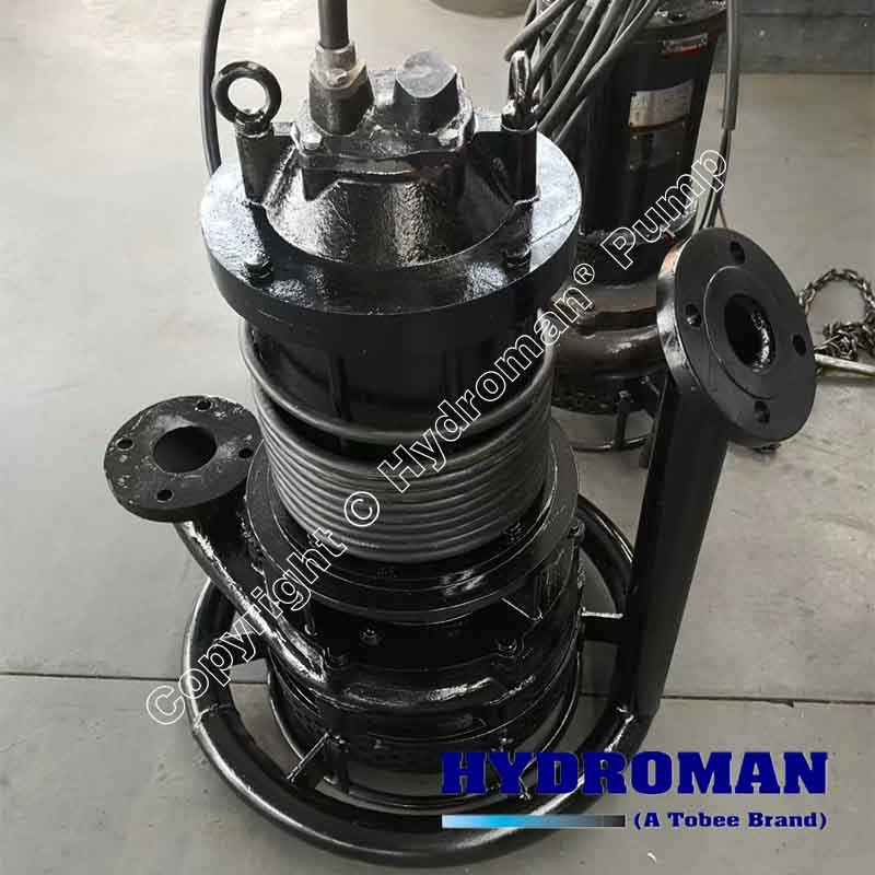 Submersible Dredge Pump with High Pressure Water Jet Ring