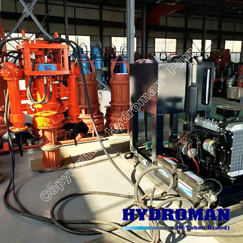 Hydraulic Submersible Slurry Pump with Power Pack