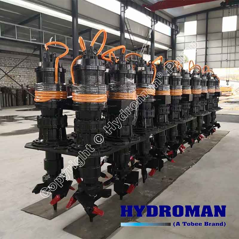 Electric Excavators for Submersible Dredge Pumps