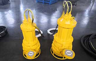 TJQ25-12-3 and TJQ30-30-7.5 submersible slurry pumps are ready for shipping
